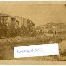 Fotografía antigua: LLANES, ASTURIAS. VISTA DE PRIMERA ÉPOCA, CIRCA 1870, SIN REFERENCIA DE FOTÓGRAFO. Lote 134945250
