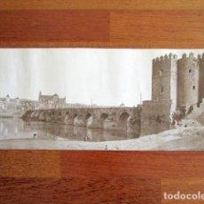 Fotografía antigua: ANTIGUA FOTOGRAFÍA ALBÚMINA CÓRDOBA. PUENTE ROMANO Y TORRE DE CALAHORRA. . Lote 135139898
