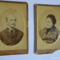 Fotografía antigua: LOTE DE 2 RETRATOS ANTIGUOS FINAL SIGLO XIX , VER FOTOS. Lote 135182642