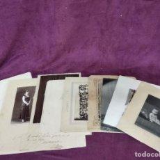 Fotografía antigua: LOTE DE 9 ANTIGUAS FOTOGRAFÍAS, ALGUNAS ALBÚMINAS. Lote 135355550