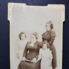 Fotografía antigua: ANTIGUA FOTOGRAFÍA RETRATÓ FAMILIAR FRANCISCO GUERRERO Y MOLAN YESTE ALBACETE. Lote 135460386