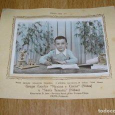 Fotografía antigua: FOTO GRUPO ESCOLAR MAYANS Y CISCAR AÑO 1954-55.OLIVA (VALENCIA). Lote 135610066