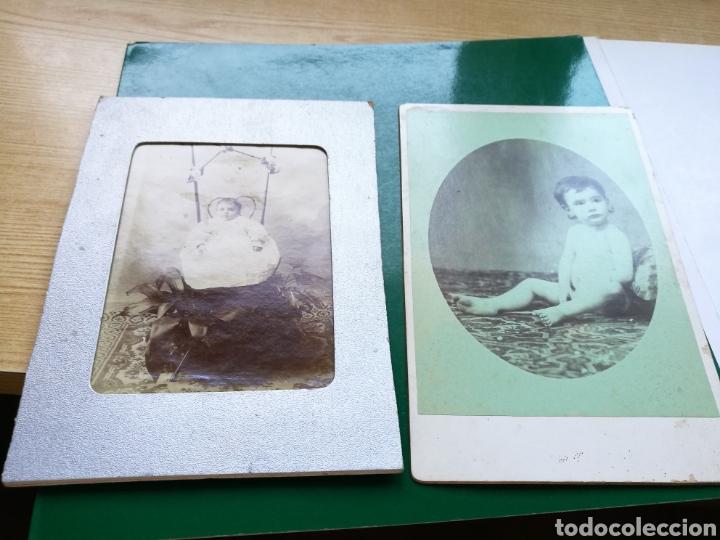 LOTE DE 2 FOTOGRAFÍAS EN ALBÚMINA DE NIÑOS. FINALES SIGLO XIX (Fotografía Antigua - Albúmina)