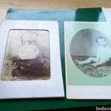 Fotografía antigua: LOTE DE 2 FOTOGRAFÍAS EN ALBÚMINA DE NIÑOS. FINALES SIGLO XIX. Lote 136139885