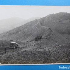 Fotografía antigua: TERRAPLEN DE LA CHOPERA EN TERMINO DE ENCINACORBA, ZARAGOZA - AÑOS 1920. Lote 136455386