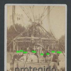 Fotografía antigua: GLOBO CAUTIVO. FOTÓGRAFO A.ESPLUGAS, PLAZA DEL TEATRO 7. BARCELONA. BDLL. Lote 125104247