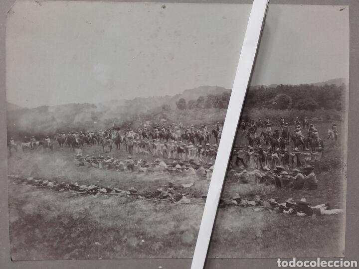 EXTRAORDINARIA FOTOGRAFÍA HISTÓRICA. NAOLINCO, VERACRUZ, MÉXICO. PUEBLA, ABRIL DE 1912 (Fotografía Antigua - Albúmina)