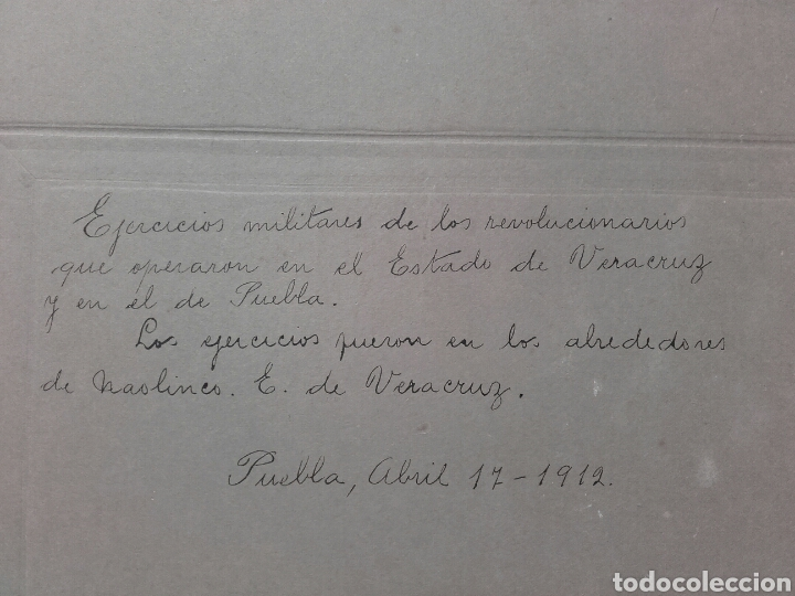 Fotografía antigua: EXTRAORDINARIA FOTOGRAFÍA HISTÓRICA. NAOLINCO, VERACRUZ, MÉXICO. PUEBLA, ABRIL DE 1912 - Foto 3 - 137798558