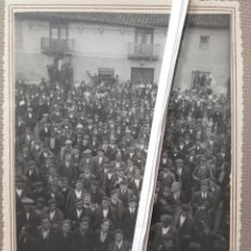 Fotografía antigua: NAVA DEL REY. CONFERENCIA DE LA LIGA NACIONAL DE CAMPESINOS 1927. Lote 137809069