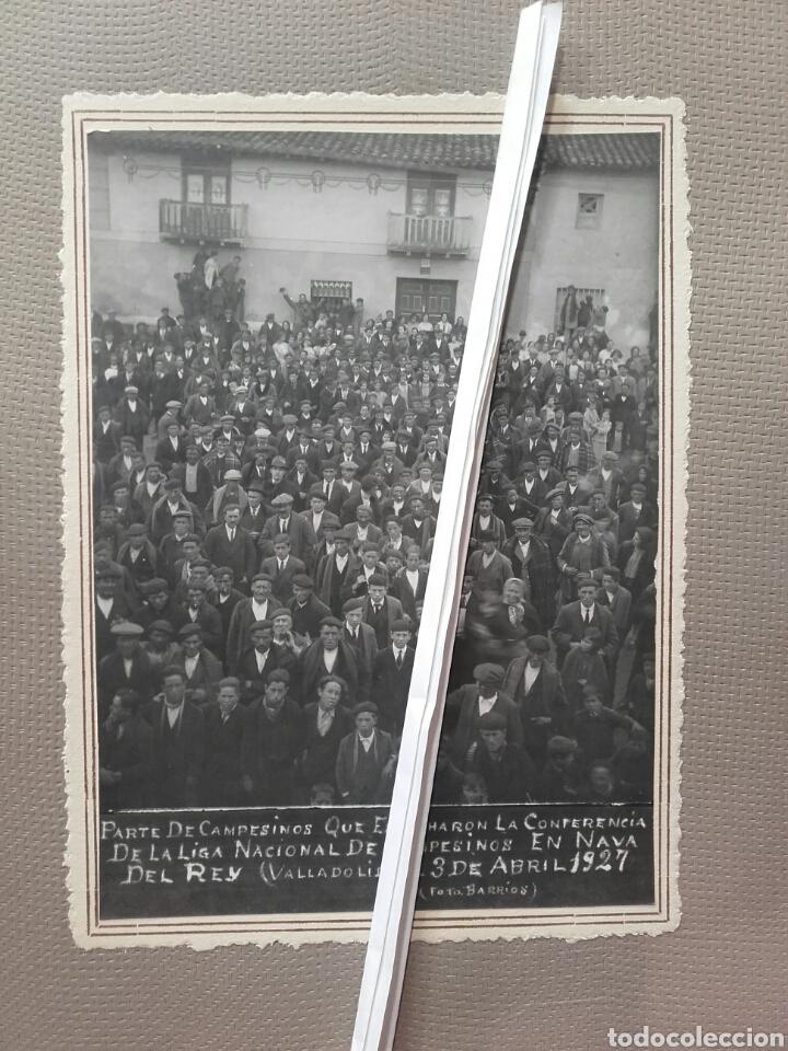 Fotografía antigua: NAVA DEL REY. CONFERENCIA DE LA LIGA NACIONAL DE CAMPESINOS 1927 - Foto 2 - 137809069