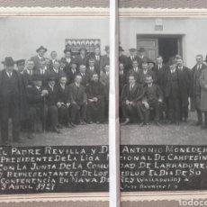 Fotografía antigua: NAVA DEL REY, LIGA NACIONAL DE LABRADORES, 1927. Lote 137810116