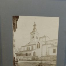 Fotografía antigua: ALBÚMINA SEGOVIA IGLESIA DE SAN MARTÍN . EGLISE ST MARTIN LEVY ? FOTÓGRAFO . Lote 138178942