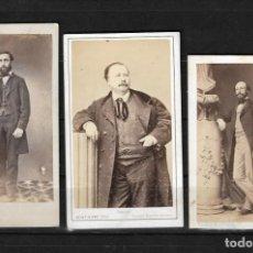 Fotografía antigua: LOTE DE TRES FOTOGRAFIAS ANTIGUAS CON FIRMA EN REVERSO. Lote 138540510