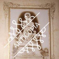 Fotografía antigua: ANTIGUA FOTOGRAFÍA DE LA VIRGEN DEL CARMEN DE LA RODA ALBACETE FINALES DEL XIX . Lote 138993038