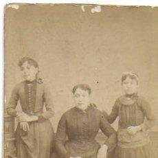 Fotografía antigua: F- 3901. FOTOGRAFIA FAMILIAR EN ALBUMINA, S.XIX.. Lote 139045946