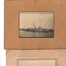Fotografía antigua: LOTE DE 3 FOTOGRAFIAS ALBUMINA DE BUQUES. CIRCA 1915. Lote 139384925