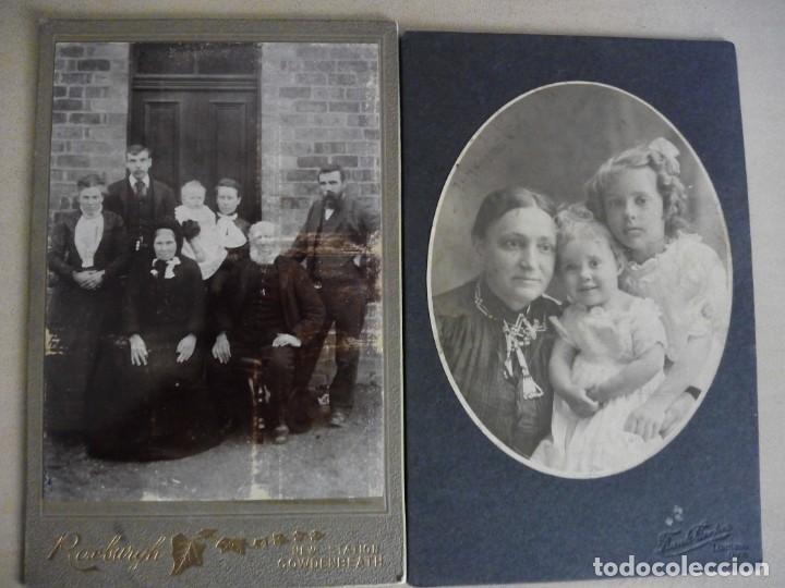 Fotografía antigua: lote 6 viejas albúminas Victorianas Inglaterra Gran Bretaña fotografías retratos - Foto 3 - 139622182