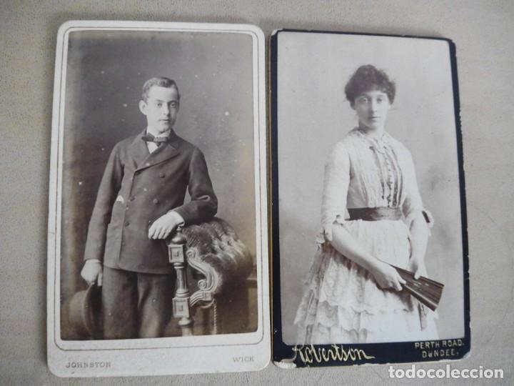 Fotografía antigua: lote 6 viejas albúminas Victorianas Inglaterra Gran Bretaña fotografías retratos - Foto 4 - 139622182