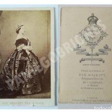 Fotografía antigua: RARO CDV CLIFFORD MADRID DE LA REINA VICTORIA 1861 PERO REVERSO PUBLICADO BY CUNDALL, DOWNES & CO. Lote 139646686