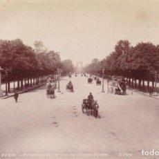 Fotografía antigua: 1880-90'S LOTE 2 FOTOGRAFÍAS ALBUMINA PARÍS. CAMPOS ELÍSEOS Y EL MUSEO DE LOUVRE 18,5X12,0CM. Lote 140047930