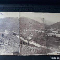Fotografía antigua: VERGARA GUIPUZCOA VISTA PANORAMICA HACA 1880 ALBUMINA. Lote 140128962