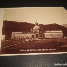 Fotografía antigua: LOYOLA GUIPUZCOA VISTA DEL MONASTERIO ALBUMINA HACIA 1890. Lote 140130742