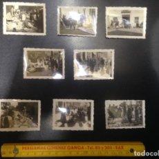 Fotografía antigua: LOTE 8 FOTOGRAFIAS ANTIGUAS RASTRO PUESTOS MERCADILLO 1934 BUÑOL¿? VALENCIA ¿?. Lote 140141082