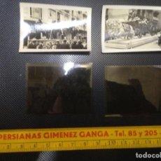Fotografía antigua: LOTE 2 FOTOGRAFIAS ANTIGUAS FALLAS VALENCIA 1934 + CLICHES NEGATIVOS ORIGINALES. Lote 140143990