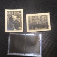 Fotografía antigua: LOTE 2 FOTOGRAFIAS ANTIGUAS FALLAS VALENCIA 1934 CLICHES NEGATIVOS ORIGINALES (III). Lote 140144986