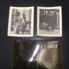 Fotografía antigua: LOTE 2 FOTOGRAFIAS ANTIGUAS FALLAS VALENCIA 1934 CLICHES NEGATIVOS ORIGINALES (IV). Lote 140145150