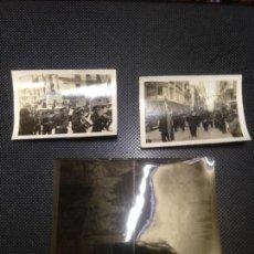 Fotografía antigua: LOTE 2 FOTOGRAFIAS ANTIGUAS FALLAS BANDA DE MUSICA VALENCIA 1934 CLICHES NEGATIVOS ORIGINALES . Lote 140145578
