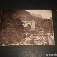 Fotografía antigua: MALLORCA MOLINO Y TORRENTE DE PAREIS FOTOGRAFIA ALBUMINA HACIA 1880 8 X 11 CMTS . Lote 140146286