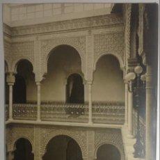 Fotografía antigua: JEREZ DE LA FRONTERA CADIZ * DETALLE CASA DE AGREDA * 34 CM X 25 CM * J. ROIG SUCESORA DE J. LAURENT. Lote 140413338