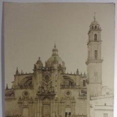 Fotografía antigua: JEREZ DE LA FRONTERA CADIZ * LA COLEGIATA * 33 CM X 25 CM * J. ROIG SUCESORA DE J. LAURENT. Lote 140414166
