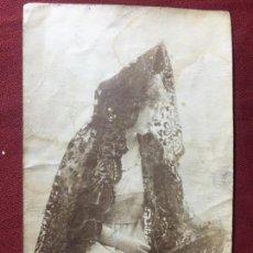 Fotografía antigua: ANTIGUA FOTOGRAFIA 100X100 ORIGINAL ARTISTA CON MANTILLA. Lote 140593538