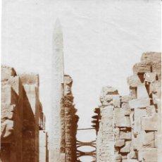 Alte Fotografie - 1885CA FOTOGRAFÍA ORIGINAL ALBÚMINA TEMPLO KARNAK . EGIPTO. FOTÓGRAFO G. SAIF 12X17CM. - 141566150