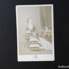 Fotografía antigua: ALBÚMINA DE Dª MERCEDES DE ORLEANS Y DE BORBÓN. Lote 142014682