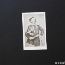 Fotografía antigua: ALBÚMINA DE VICTOR MANUEL II REY DE ITALIA. Lote 142025482