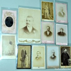 Fotografía antigua: 11 ANTIGÜAS FOTOGRAFÍAS DE FINALES SIGLO XIX - PRINCIPIOS SIGLO XX. DIVERSOS TIPOS. BIEN CONSERVADAS. Lote 142114410