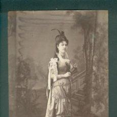 Fotografía antigua: FOTOGRAFIA CARNAVAL BARCELONA DISFRACES ESPLUGAS SXIX (APROXIMADAMENTE 1870). Lote 142270074