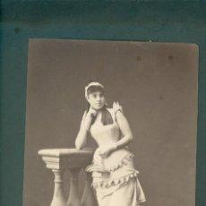 Fotografía antigua: FOTOGRAFIA CARNAVAL BARCELONA DISFRACES ESPLUGAS SXIX (APROXIMADAMENTE 1870). Lote 142270310