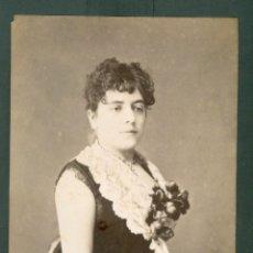 Fotografía antigua: FOTOGRAFIA ESPLUGAS SXIX (APROXIMADAMENTE 1870) MUJER . Lote 142271594