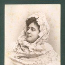 Fotografía antigua: FOTOGRAFIA ESPLUGAS SXIX (APROXIMADAMENTE 1870) MUJER . Lote 142271742