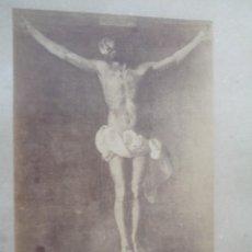 Fotografía antigua: ZURBARAN.1095.CRISTO EN LA CRUZ.MUSEO DE SEVILLA.REF-71. Lote 142859114