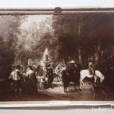 Fotografía antigua: FOTO ALBÚMINA. LEÓN Y ESCOSURA : UN PASEO DE ARANJUEZ EN TIEMPO DE FELIPE IV (29 X 21). Lote 143665774