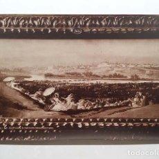 Fotografía antigua: FOTO ALBÚMINA. GOYA : 157. LA PRADERA DE SAN ISIDRO. (29 X 18 CM). Lote 143665910