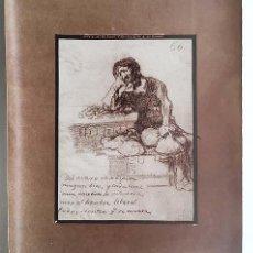 Fotografía antigua: FOTO ALBÚMINA. GOYA : 247. EL AVARO. COLECCIÓN DE D. A. DE BERUETE 29 X 23 CM. Lote 143666074