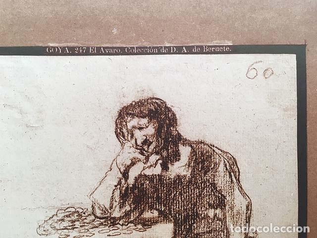 Fotografía antigua: Foto Albúmina. GOYA : 247. El Avaro. Colección de D. A. de Beruete 29 x 23 cm - Foto 2 - 143666074