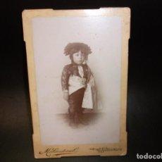 Fotografía antigua: SIGLO XX FOTOGRAFIA DE M. SANDOVAL MORATALLA MURCIA - NIÑO TORERO TOROS. Lote 143708686