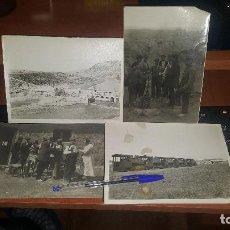 Fotografía antigua: OBREROS Y LOCOMOTORAS, OBRAS PRESA ARDISA, EMBALSE DE LA SOTONERA MONEGROS, CANAL DEL GALLEGOS, ETC. Lote 143827814
